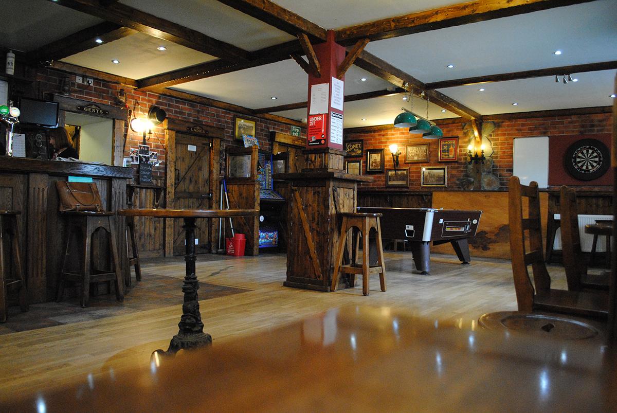 A spacious pub