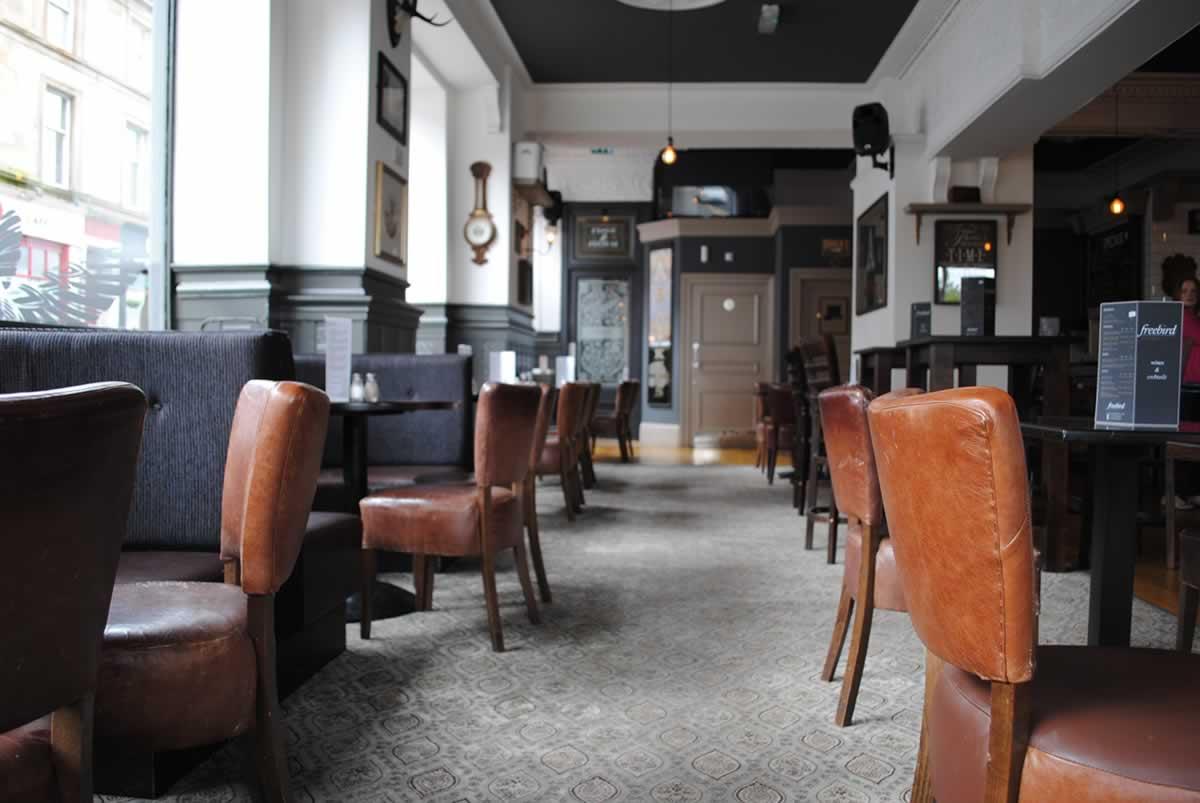 A bright and spacious pub
